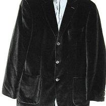 Hugo Boss Black Velvet Jacket Goldini Size 40 R Vintage 1990's Photo