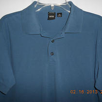 Hugo Boss Blue Polo Shirt Medium M Photo