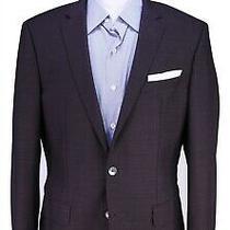 Hugo Boss Current Hudsons Purple/black Woven Slim Fit Wool 2-Btn Blazer 40r Photo