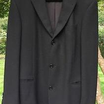 Hugo Boss Einstein Mens Black Wool Sports Coat 42l Photo