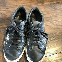 Hugo Boss Fulteno Studded Sneaker Black Leather Mens Size 9 Us Eur 42 Trainer Photo