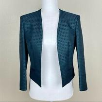 Hugo Boss Jianne Suit Jacket Blazer Green Black Size 2 Photo