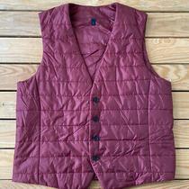 Hugo Boss Mens Button Up Puffer Vest Size M in Burgundy B2 Photo