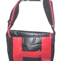 Hugo Boss Men's or Women's Red Black Medium Travel Luggage Bag  Logo Shoulder Ib Photo