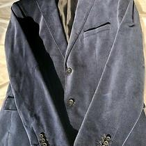 Hugo Boss Men's Size 40r Black Velour Lined Two Buttons Blazer Jacket Ee5 Photo