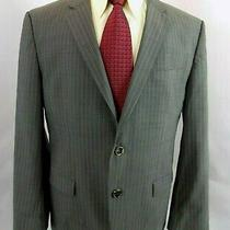 Hugo Boss Men's Sport Coat Sz 42 S Gray Pin Stripe Wool Blazer 2 Button Jacket  Photo