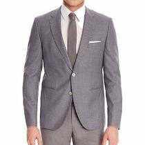 Hugo Boss Mens Checkered Two Button Blazer Jacket Grey 40 Regular Photo