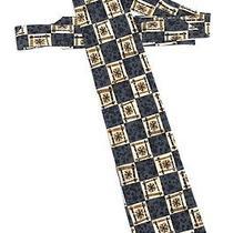 Hugo Boss Mens Italian Silk Modern-Geometric Necktie Mint Photo