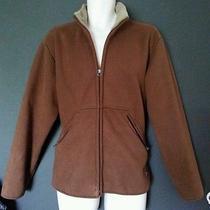 Hugo Boss Mens Micro Suede Brown Sherpa Lined Jacket Full Zip M Medium Coat Photo