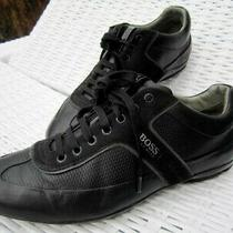 Hugo Boss Mercedes Benz Edition Black Leather Designer Sneakers Size 44  Photo
