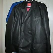 Hugo Boss Orange Double Breasted Sportcoat Blazer Jacket-44 Stripper Pole Lining Photo
