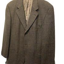 Hugo Boss Saks 5th Rare Gold Woven Virgin Wool Sport Coat Blazer Jacket 42 T Photo