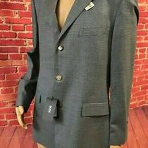 Hugo Boss Scorsese Us Black Brown Blue Woven Dual-Vented Men Sport Coat 42r Nwt Photo
