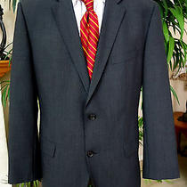 Hugo Boss Solid Gray Sport Coat 42r 2 Button Current Photo