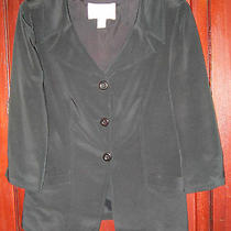 Hugo Buscati Collection 8 S M Jacket Blazer 100% Silk 3/4 Sleeve Button Career Photo