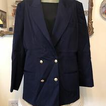 Hugo Buscati Milano  Vintage Jacket Suit Career  Blazer. Plaid Navy Sz 12 Wool Photo