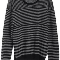 Hugo Hugo Boss Gray Black Pent Striped Wool Long Sleeve Crewneck Sweater Size S Photo