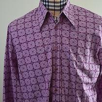 Hugo (Red Label) by Hugo Boss Purple Rare Unique Design Lightweight Shirt Xl Photo