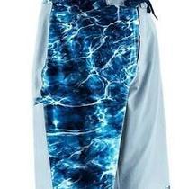 Huk Men's Elements Bluefin Size 38 New Fishing Boardshorts Blue Photo