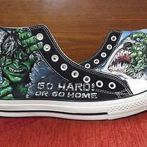 Hulk Hand Painted Vintage Converse Sneakers Shoes Custom Designed 82 Photo