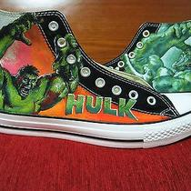 Hulk Hand Painted Vintage Converse Sneakers Shoes Custom Designed 81 Photo