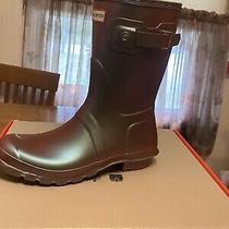Hunter Nebula Original Short Rain Boots Element  Size 10 Photo