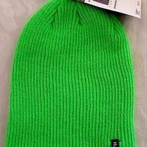 Hurley 25 Mens Shipshape Beanie Hat Ribbed Knit Stretch Neon Lime Green 1 Size Photo