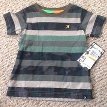 Hurley Baby Boy Striped Tee (12m)-New Photo