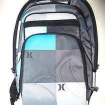 Hurley Backpack Laptop Computer Bag - Blues and Greys Excellent Condition Photo