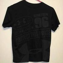Hurley Black Charcoal Short Sleeve Shirt Boys Medium - Heat Gear Photo