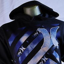 Hurley Black Graphic Pull-Over Hooded Sweatshirt/hoodie Size Small Photo