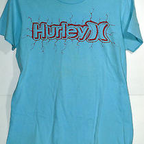 Hurley Blue Graphic T-Shirt Medium Photo