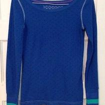 Hurley Blue Waffle Knit Thermal W/ Bright Banded Wrists & Hurley Logo Wmn's M Photo