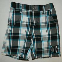Hurley Boys Blue Black White Plaid Shorts 2t Photo