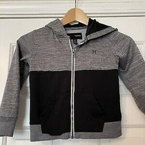 Hurley Boys Nike Therma-Fit Hoodie Size 4 Black and Grey  Photo