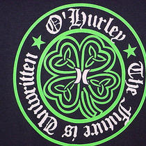Hurley Brand Black Shamrock Clover Lucky  T Tee Shirt S Small Photo