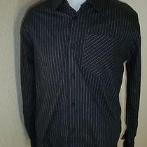 Hurley Brand Mens Medium M Button-Down Shirt L/s Photo