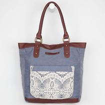 Hurley Chambray Mix It Up Tote Bag Book Bag Purse Bnwt Photo