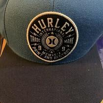 Hurley Classic Logo Patch Adjustable Snapback Hat  Yupoong Blue and White Photo