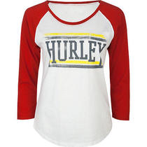 Hurley College Womens Baseball Tee Size Medium Bnwt Photo