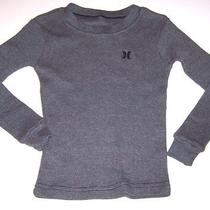Hurleydark Gray Thermal Long-Sleeve Shirt/topboys Size 4 Photo