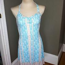 Hurley Double Halter Cotton Beach Wear Sun Dress Sz M Euc Fast Free Ship Photo