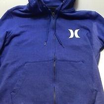 Hurley Fleece Jacket Blue Ladies Front Zipper. Medium. (818) Photo