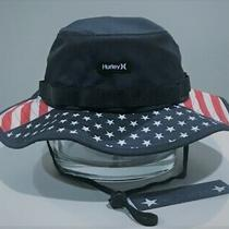 Hurley Freedom Usa Boonie Hat - Navy Blue/red/white - Adult S/m Cd0698 451 Photo