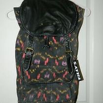 Hurley Girls Teen Women's Knapsack Backpack Black Aztek Photo