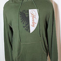 Hurley Henley Sweatshirt Hoodie Ls Front Pocket Green Xl Skate Surf Mens Cotton Photo
