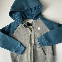Hurley Hoodie Zip Up Gray Blue  Boys Size 3t Hoodie Photo