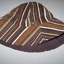 Hurley International Shannon Hat Reversible Brown/ Striped Nwt Photo