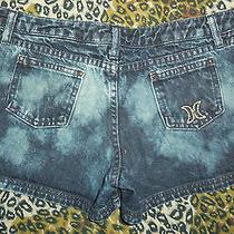 Hurley Jeans 5 S Bleach Denim Jean Shorts Surf S 5 Skater Festival Grunge Photo