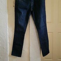 Hurley Jeans 81 Skinny Crop Denim Pants Size 25 (1) Dark Wash Distressed Thighs Photo